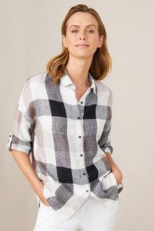 Capture Linen Drop Shoulder Shirt - 236656