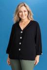 Plus Size - Sara Button Through Shirt