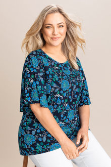 Plus Size - Sara Keyhole Knit Top