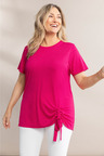 Plus Size - Sara Ruched Front Tee