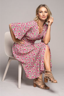 Grace Hill Button Front Midi Dress