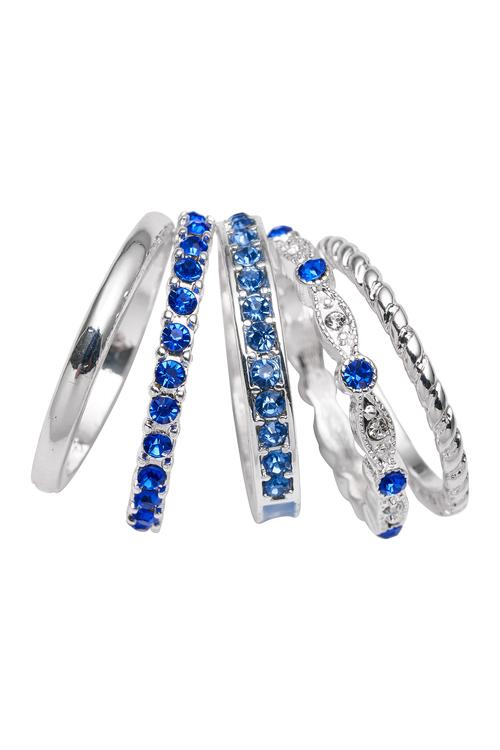 Amber Rose Finger Ring Set