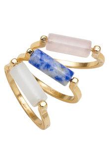 Amber Rose Luna Multi Ring Set