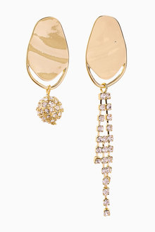 Next Sparkle And Pearl Effect Mismatch Earrings