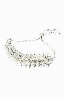 Next Crystal Effect Metal Pully Bracelet
