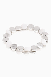 Next And White Stretch Bracelet Two Pack