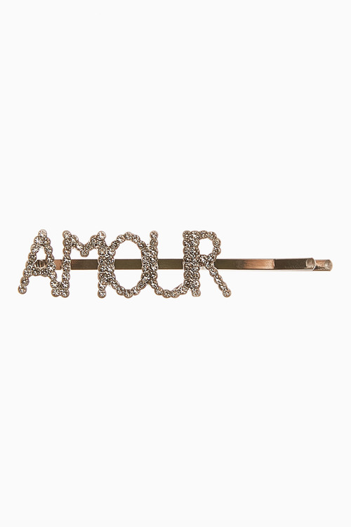Next Amour Wording Sparkle Hair Slide