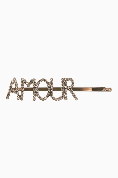 Next Amour Wording Sparkle Hair Slide