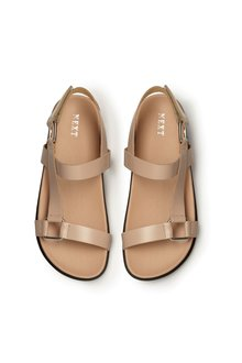 Next Leather Signature Luxe Footbed Sandals