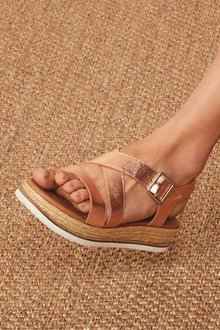Next Leather Flatform Sandals - 236793