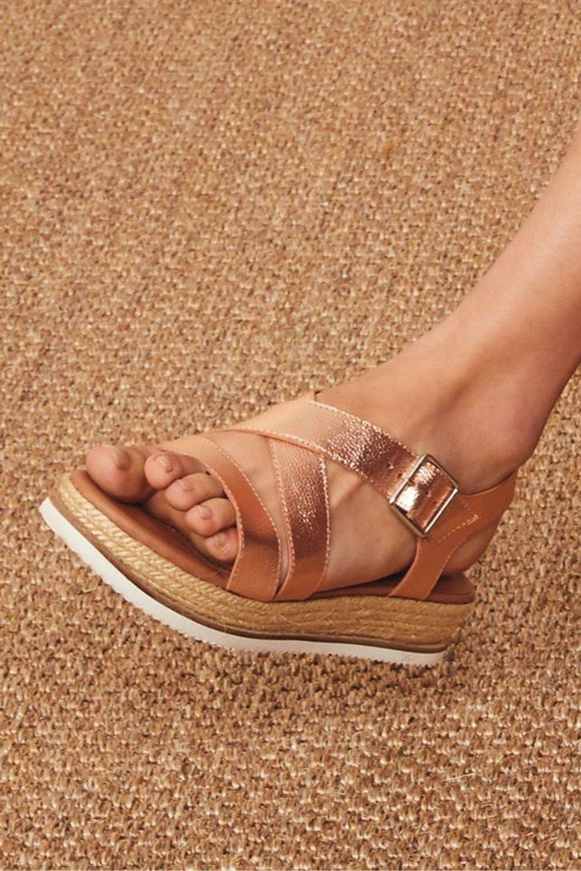 Next Leather Flatform Sandals Online