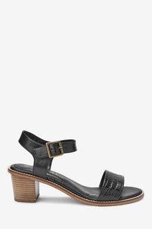 Next Leather Block Sandals