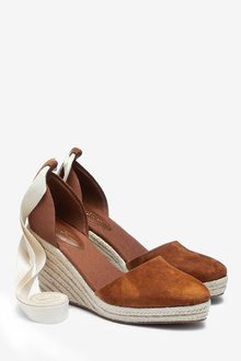 Next Wrap Espadrille Wedges