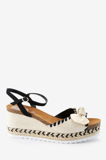 Next Footbed Bow Detail Wedges