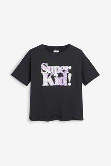 Next Sequin Slogan T-Shirt (3-16yrs)