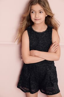 Next Lace Playsuit (3-16yrs)