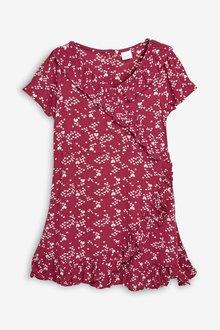 Next Printed Wrap Dress (3-16yrs)