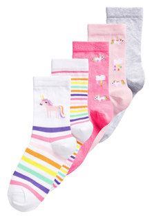 Next Unicorn Ankle Socks Five Pack (Older)