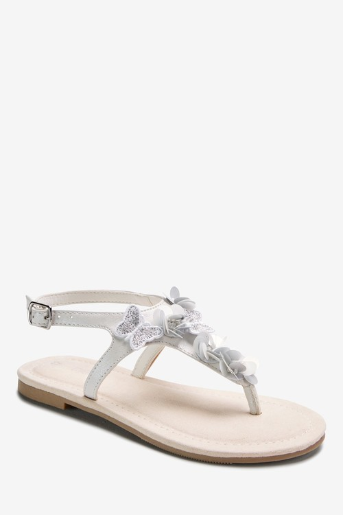 Next Butterfly Embellished Toe Post Sandals (Older)