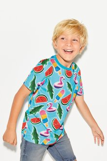 Next Inflatable All Over Print T-Shirt (3-16yrs)