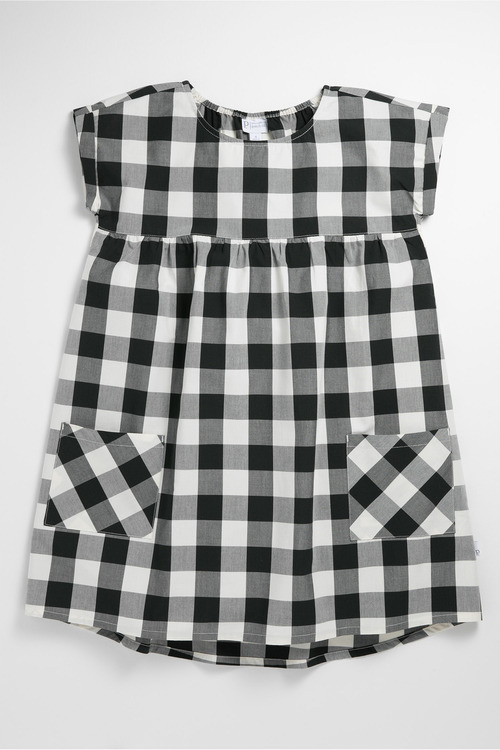 Pumpkin Patch Dress with Checks and Pockets