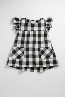 Pumpkin Patch Infants' Dress with Checks and Pockets - 236993