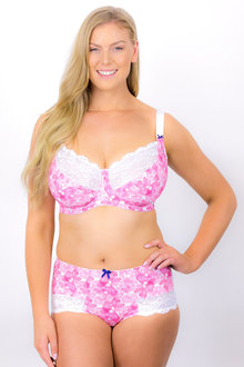 Plus Size - Rose & Thorne En Forme Linear Flower Bra