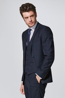 Next Textured Suit: Jacket- Slim Fit - 237007