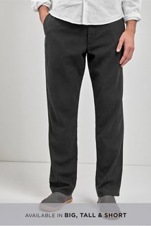 Next Linen Blend Drawstring Trousers