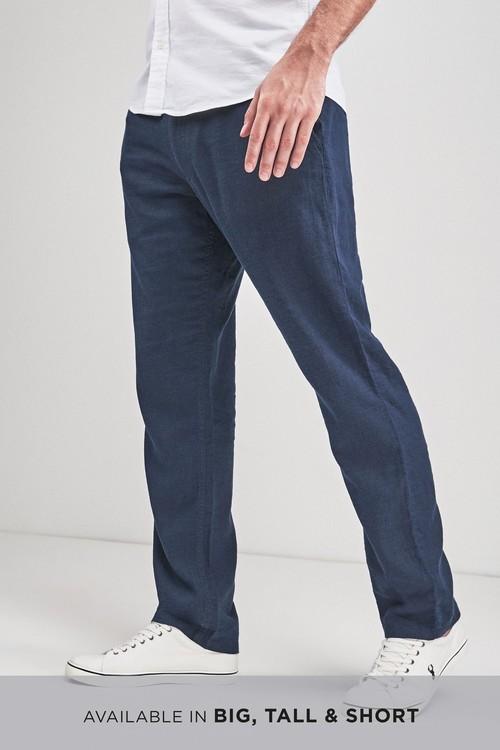 Next Linen Blend Drawstring Trousers