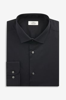 Next Stretch Easy Care Shirt- Skinny Fit Single Cuff