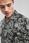 Next Short Sleeve Revere Collar Paisley Print Shirt