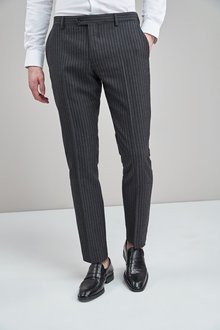 Next Slim Fit Signature Stripe Suit: Trouser