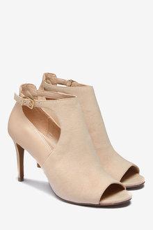 Next Cut-Out Peep Toe Shoe Boots