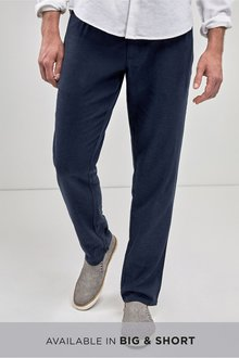 Next Linen Blend Jean Style Slim Fit Trousers