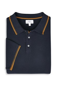 Next Tipped Knitted Polo