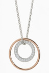 Next Pave Circle Mixed Metal Necklace