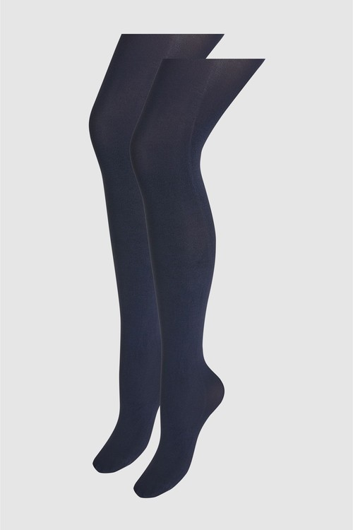 Next 60 Denier Luxe Opaque Tights Two Pack