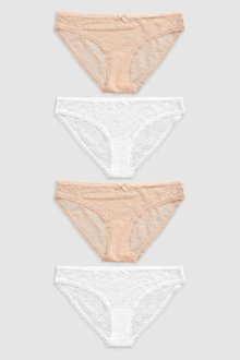 Next Lace Knickers Four Pack- Bikini