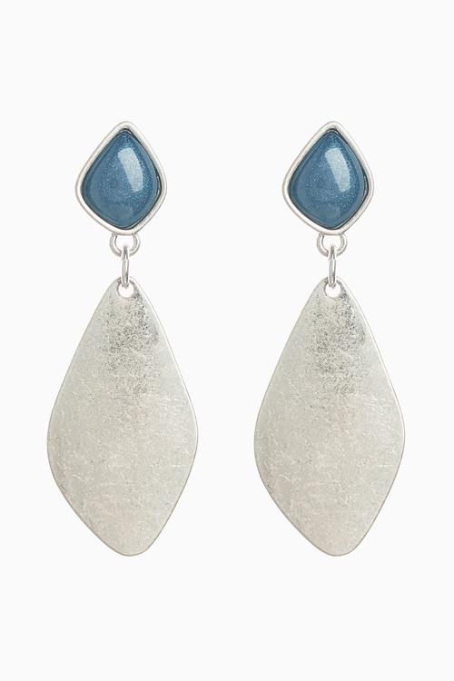 Next Blue Stone Detail Drop Earrings