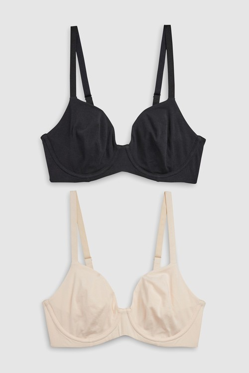 Next DD+ Georgie Non-Padded Cotton Full Cup Bras Two Pack