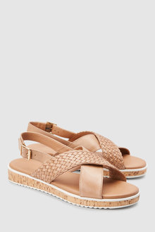 Next Leather Cork Wedges