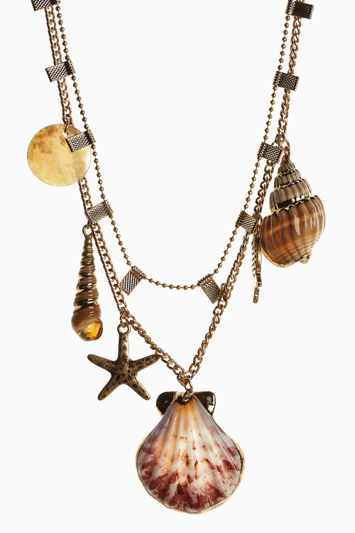 Next Shell Charm Two Layer Necklace