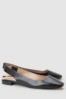 Next Forever Comfort Square Toe Slingbacks