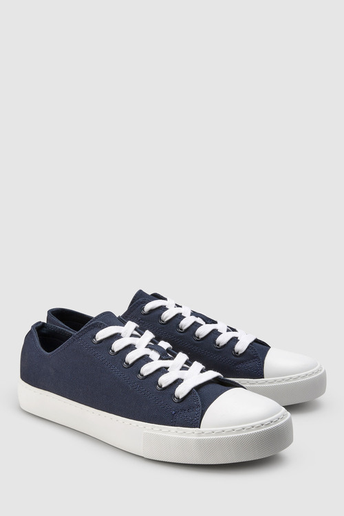 Next Baseball Canvas Lace-Up Trainers
