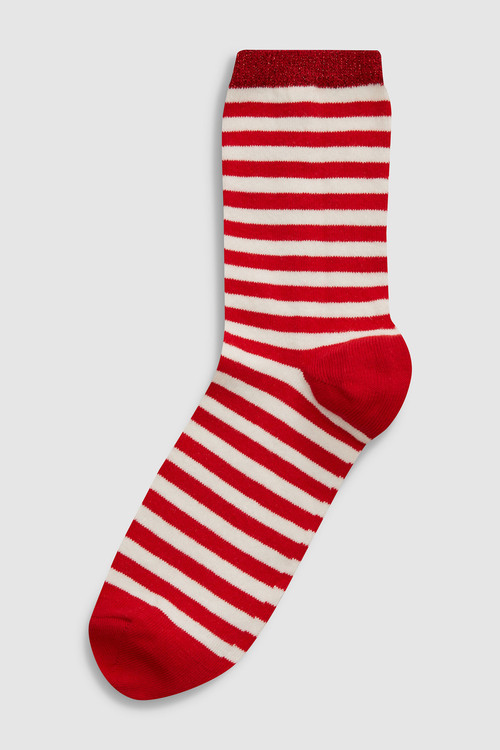 Next Striped Ankle Socks Five Pack