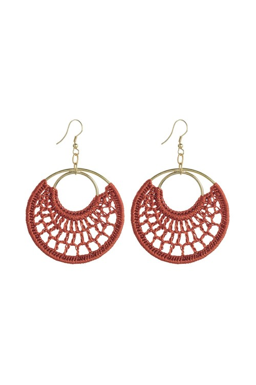 Next Macram Style Circle Drop Earrings
