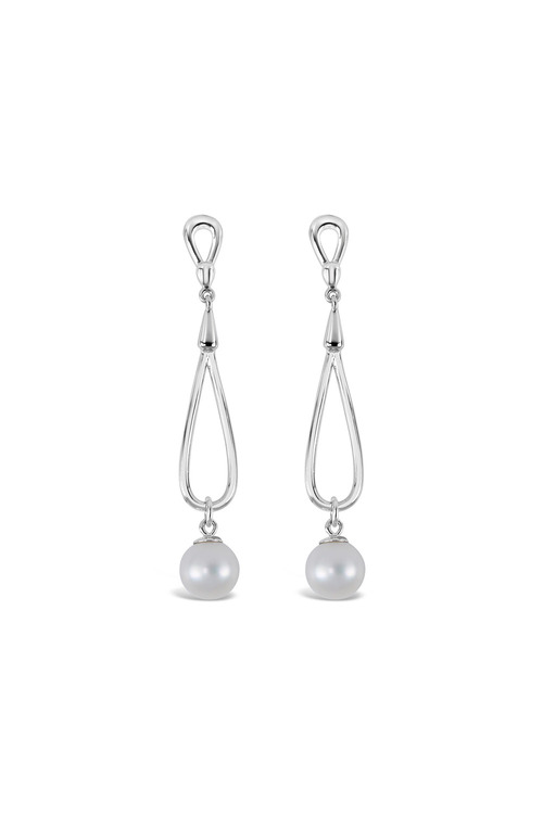 By Fairfax & Roberts Real Pearl Twist Earrings