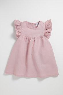 Pumpkin Patch Dress with Ruffle Sleeve - 237174