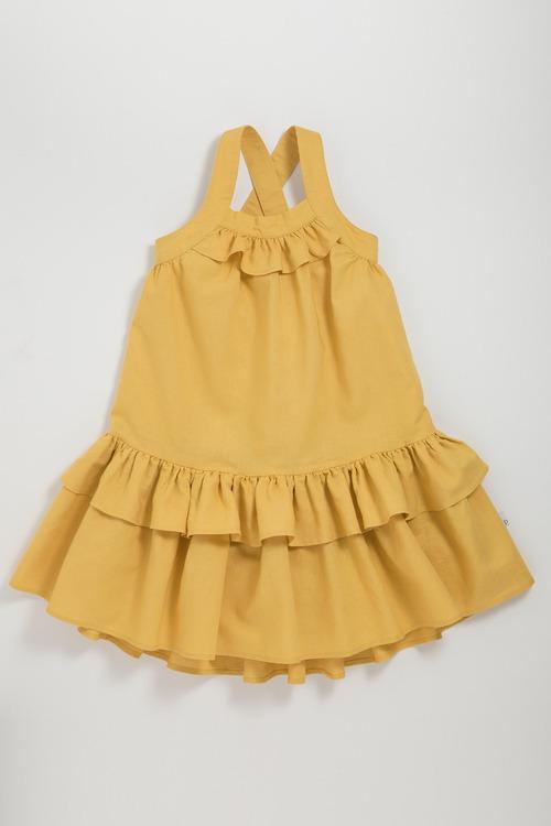 Pumpkin Patch Dress with Frill Hem